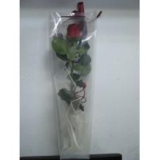1 бр. роза в прозрачна чантичка